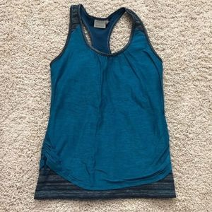 Athleta Teal Tank Top with Built-in Bra (Size L)